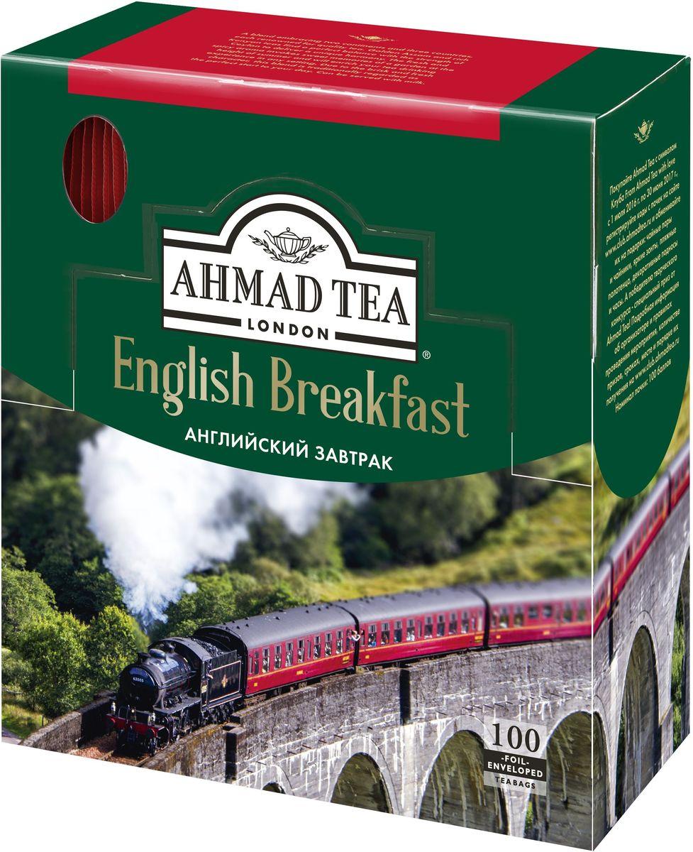 Ahmad Tea English Breakfast черный чай в пакетиках с ярлычками, в конвертах из фольги, 100 шт ahmad tea english tea no 1 черный чай в пакетиках с ярлычками в конвертах из фольги 25 шт