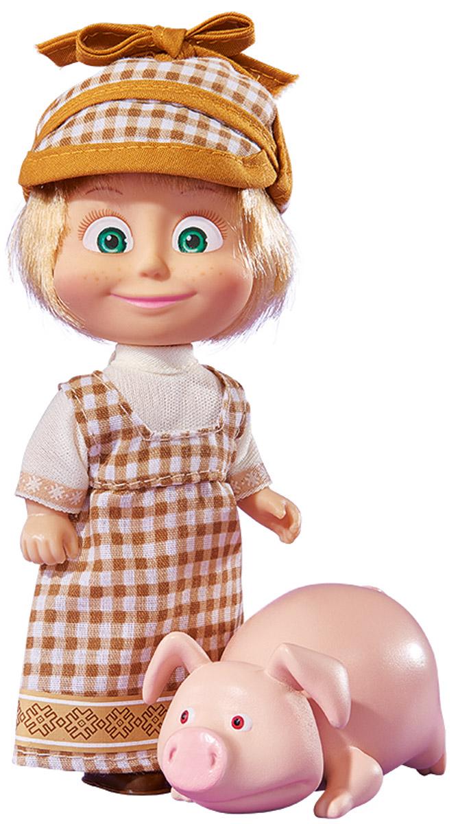 Simba Мини-кукла Маша со свинкой simba кукла маша с велосипедом маша и медведь simba