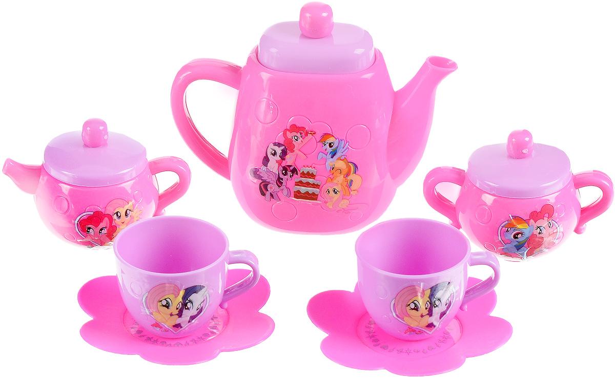цена Играем вместе Игрушечный набор посуды My Little Pony цвет розовый сиреневый 7 предметов онлайн в 2017 году