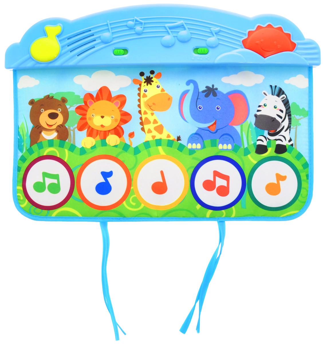 Жирафики Развивающий музыкальный коврик Веселый зоопарк мобили жирафики мобиль жирафики зоопарк музыкальный 2 режима