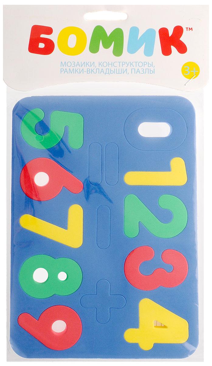 купить Бомик Пазл для малышей Цифры цвет основы синий по цене 158 рублей