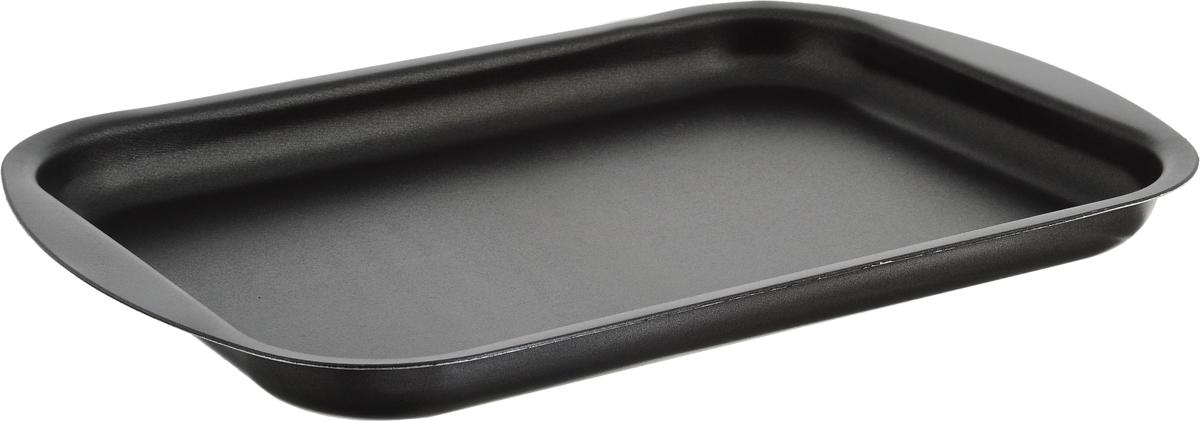 Противень для выпечки печенья Scovo Discovery, с антипригарным покрытием, цвет: серый, 34 х 23,8 х 2,6 см противень scovo 32х35 см