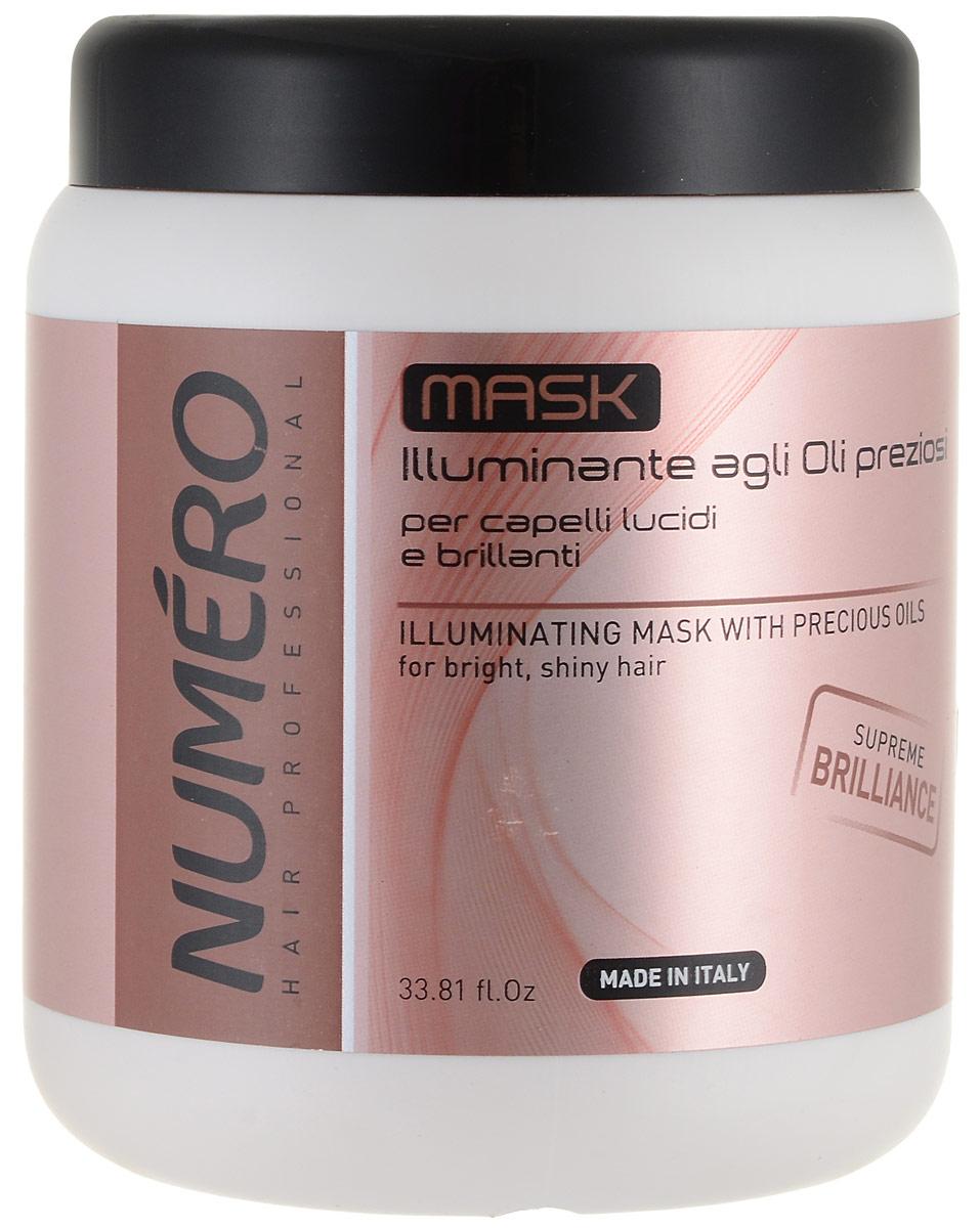 Brelil Маска для придания бриллиантового блеска с ценными сортами масел Numero Illuminating Mask With Precious Oils, 1000 мл