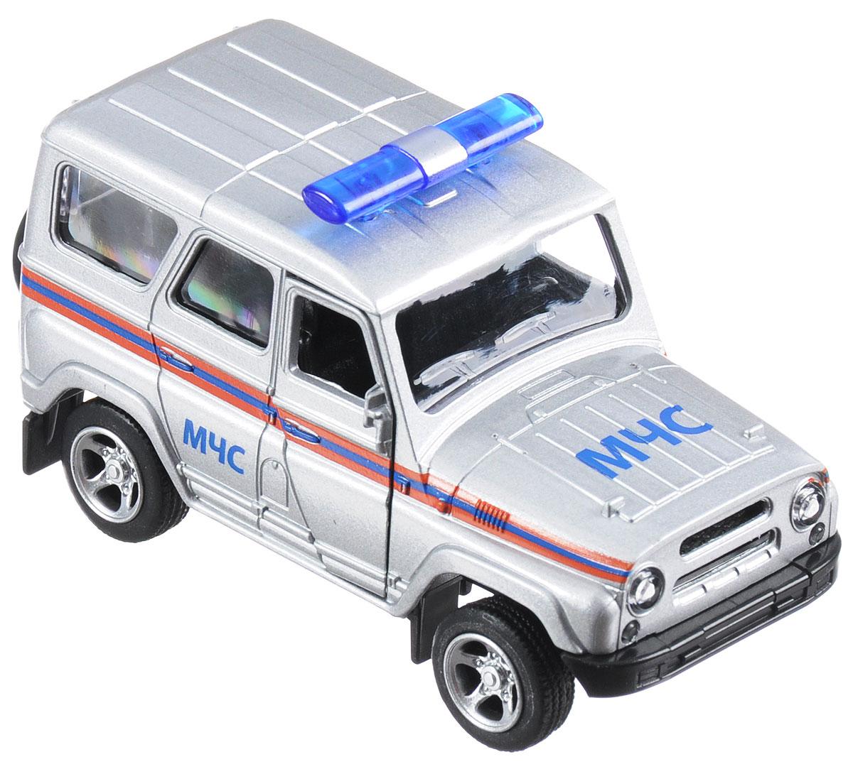 ТехноПарк Машинка инерционная UAZ Hunter МЧС технопарк машинка инерционная уаз hunter вооруженные силы