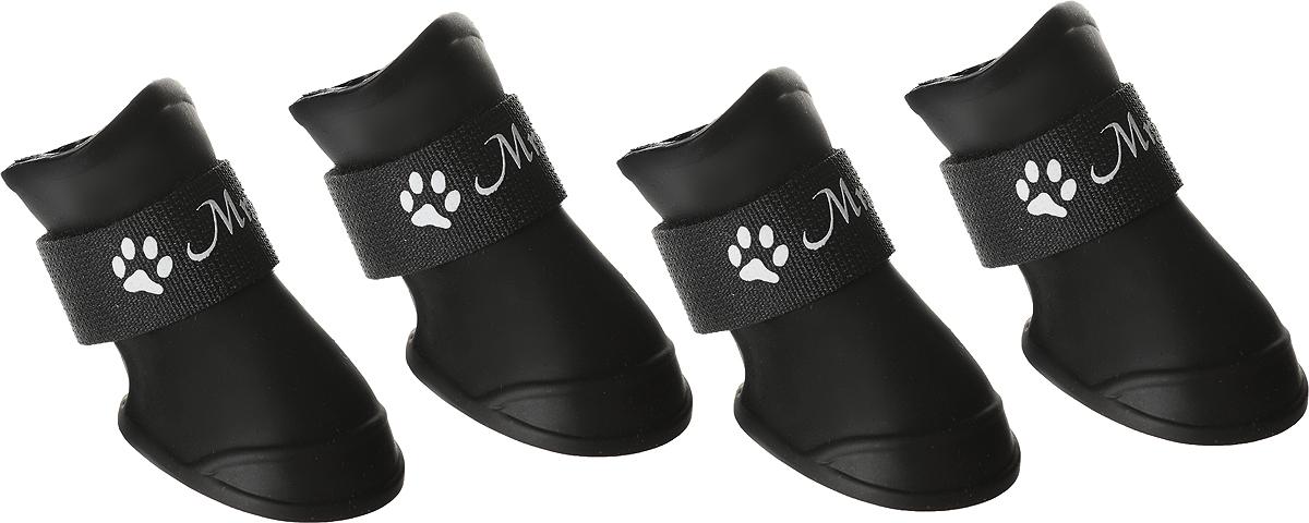 """Сапожки для собак """"Triol"""", унисекс, цвет: черный. Размер S"""