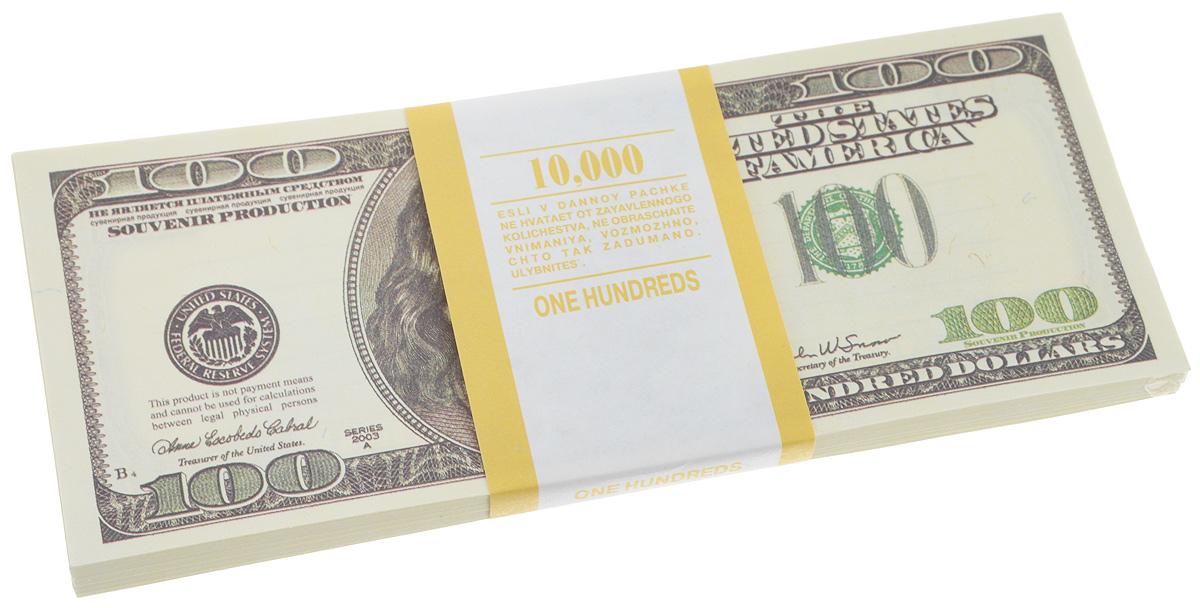 Блокнот Эврика Пачка 100 долларов, 90 листов бумага для заметок эврика пачка 1000 рублей 90 листов