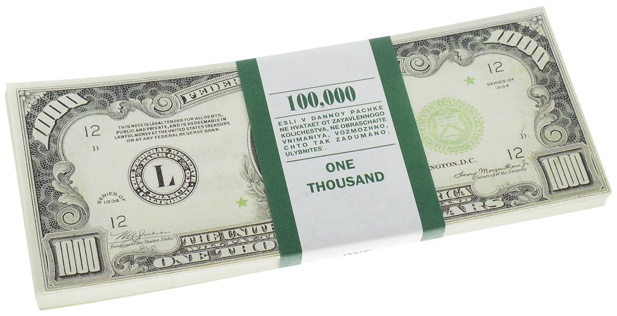 Сувенирные деньги Эврика Забавная пачка 1000 долларов фляжки сувенирные