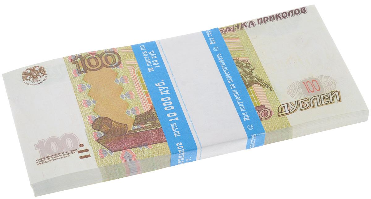 Блокнот Эврика Пачка 100 рублей, 90 листов блокнот 1000 рублей