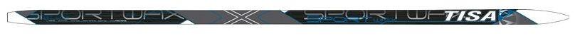 Лыжи беговые Tisa Sport Wax, цвет: серый, черный, рост 190 см. N90915 лыжи беговые tisa sport wax