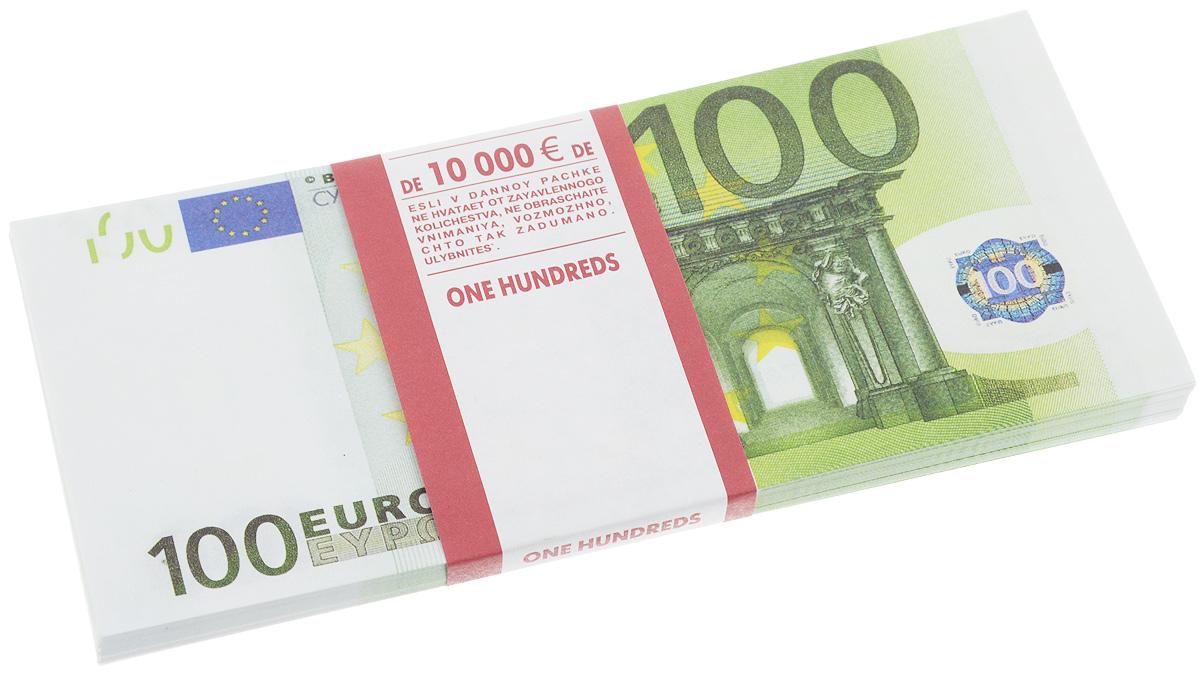 Сувенирные деньги Эврика Забавная пачка 100 евро фляжки сувенирные