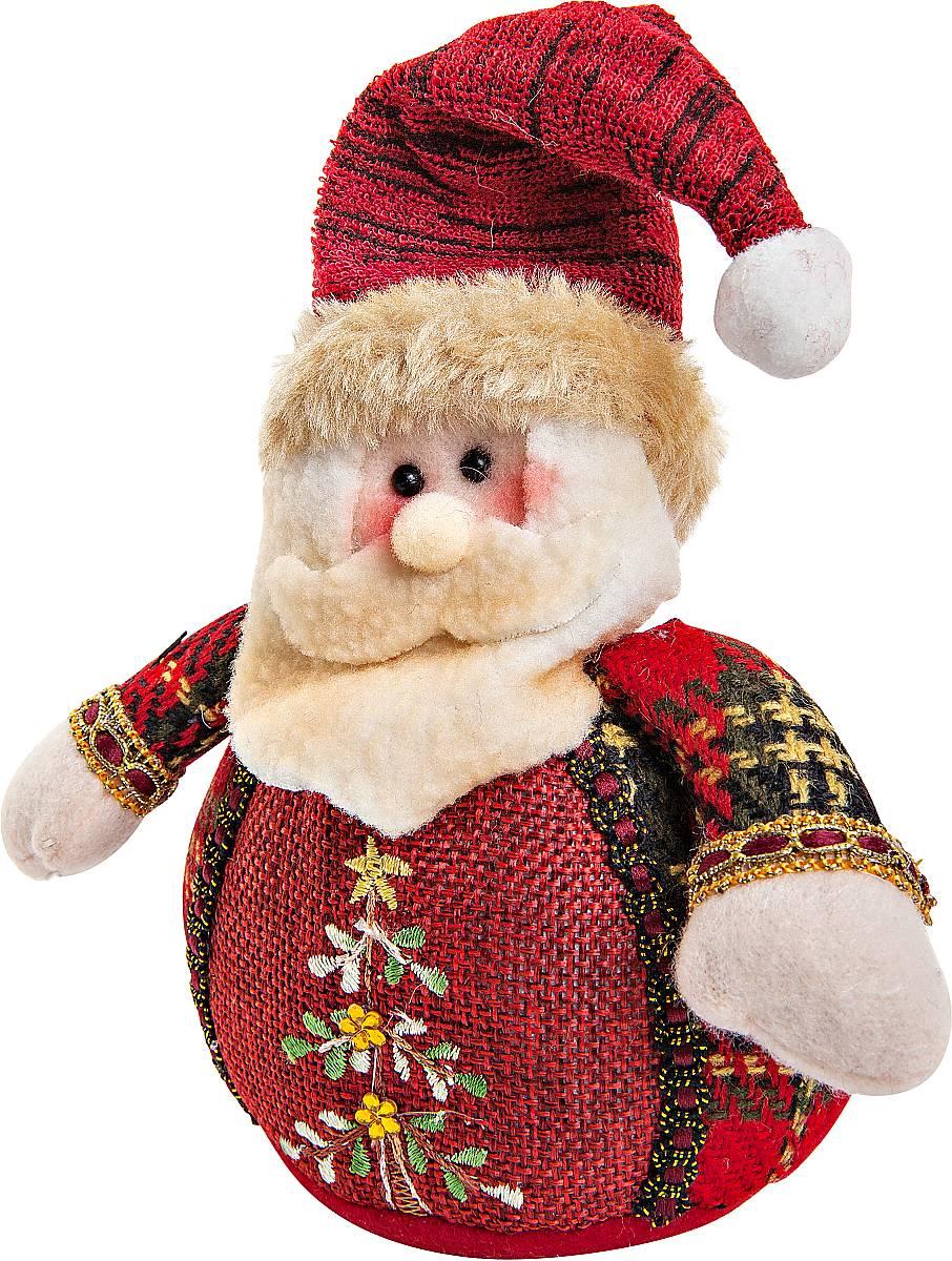Игрушка новогодняя мягкая Mister Christmas Дед Мороз, высота 12 см украшение новогоднее подвесное mister christmas дед мороз коллекционное высота 10 см us 661211