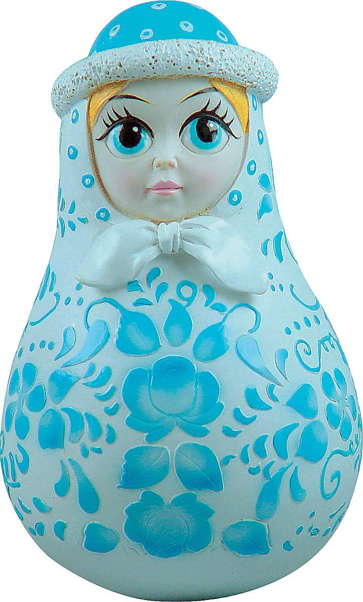 Фигурка-неваляшка новогодняя Mister Christmas Снегурочка, высота 11 см игрушка новогодняя mister christmas игрушка новогодняя