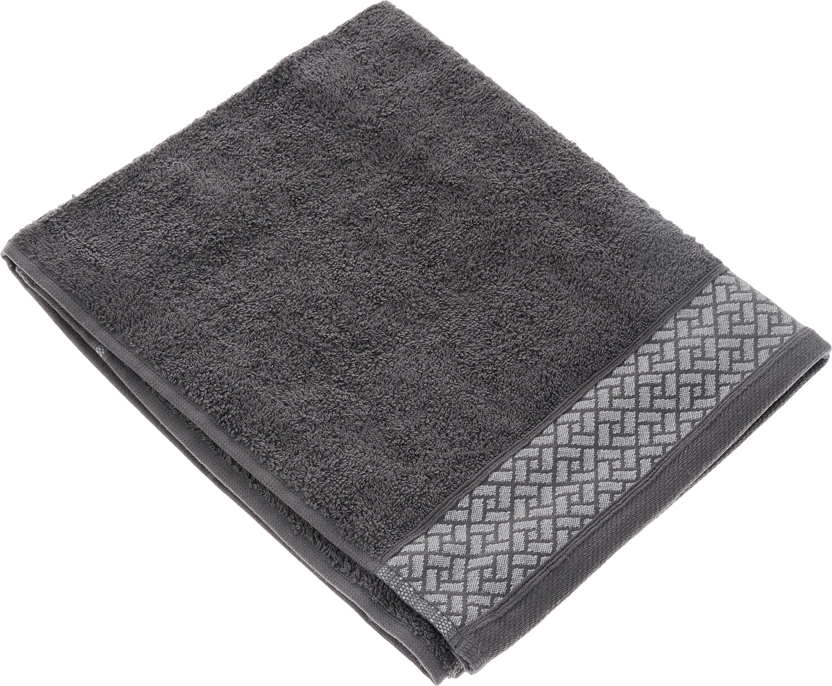 "Полотенце Aisha Home Textile ""Лабиринт"", цвет: серый, 50 х 90 см. УП-009"