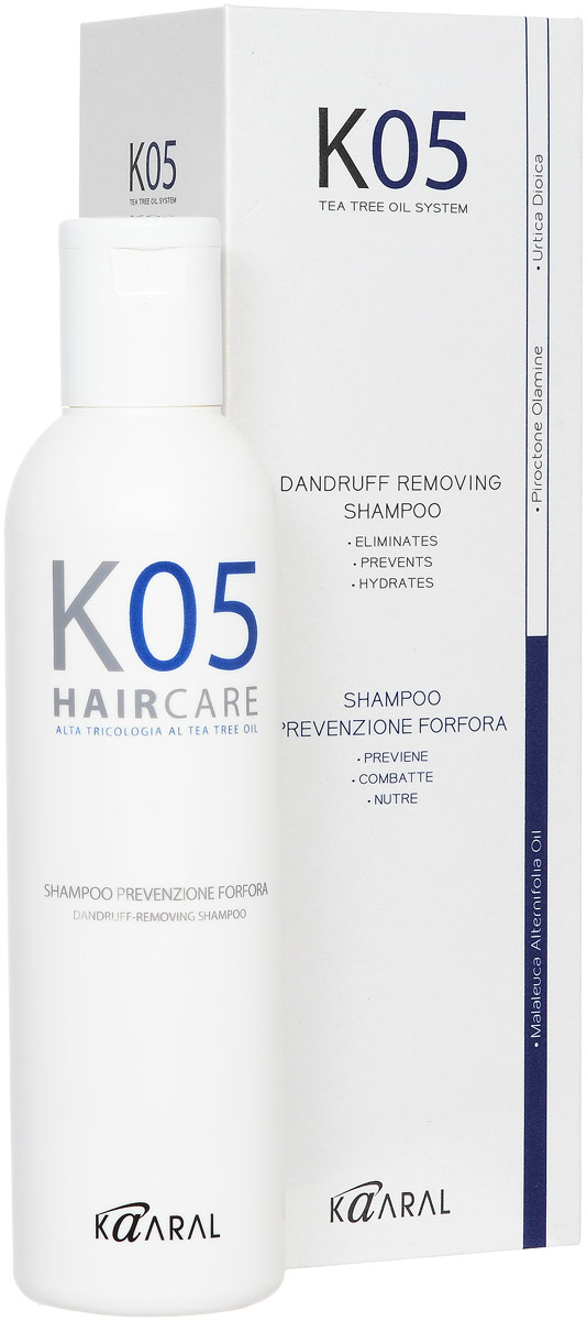 Kaaral Шампунь против перхоти К05 Shampoo Antiforfora, 250 мл