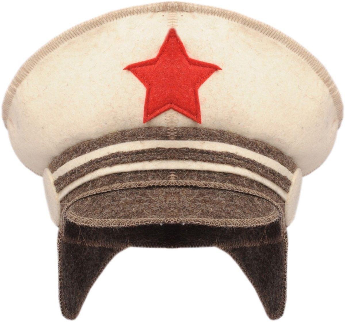 Шапка для бани и сауны Офицер шапка для бани и сауны доктор баня универсальная цвет темно серый