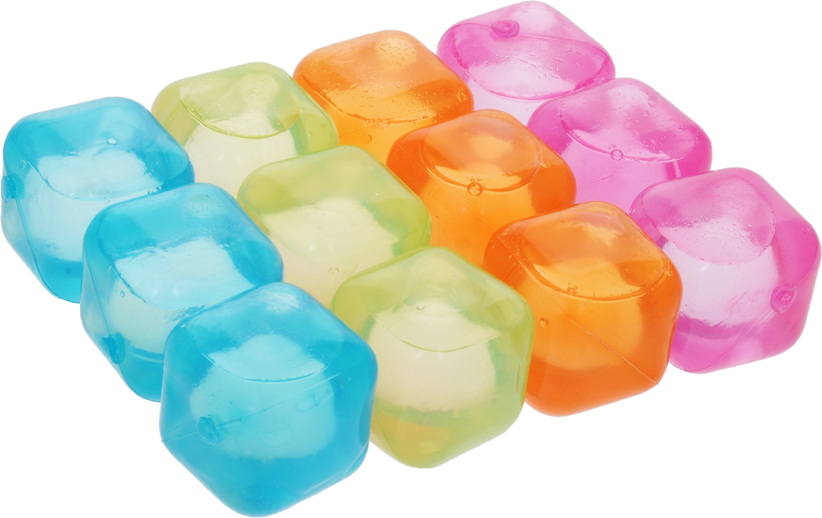 Лед многоразовый Bradex Яркие кубики, 12 шт для лица лед из молока