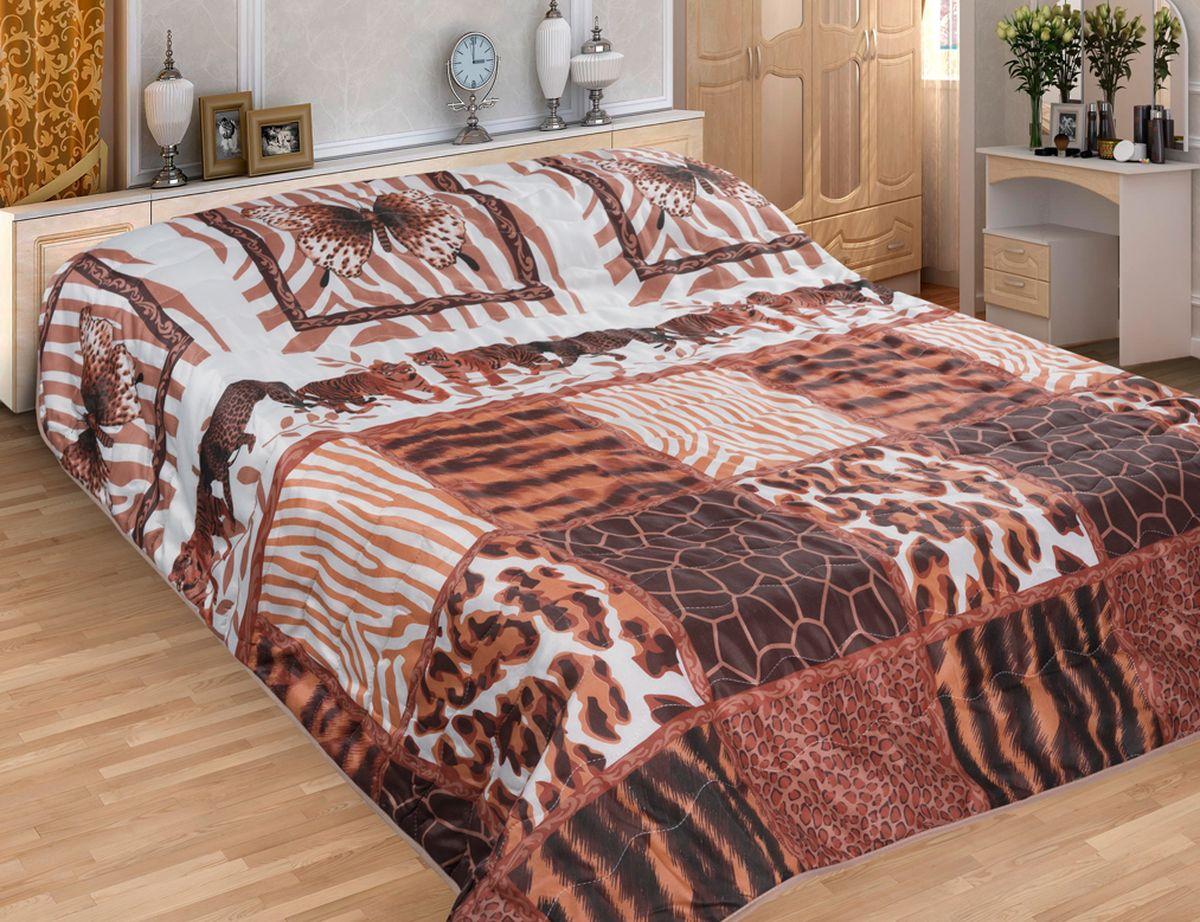 """Комплект для спальни Guten Morgen """"Печворк"""": покрывало 210 х 240 см, наволочки 70 х 70 см, цвет: черный, рыжий"""