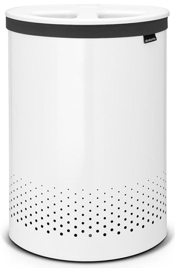 Бак для белья Brabantia, цвет: белый, 55 л. 105005 brabantia мешок для бака для белья двойной 40 л 382680 brabantia
