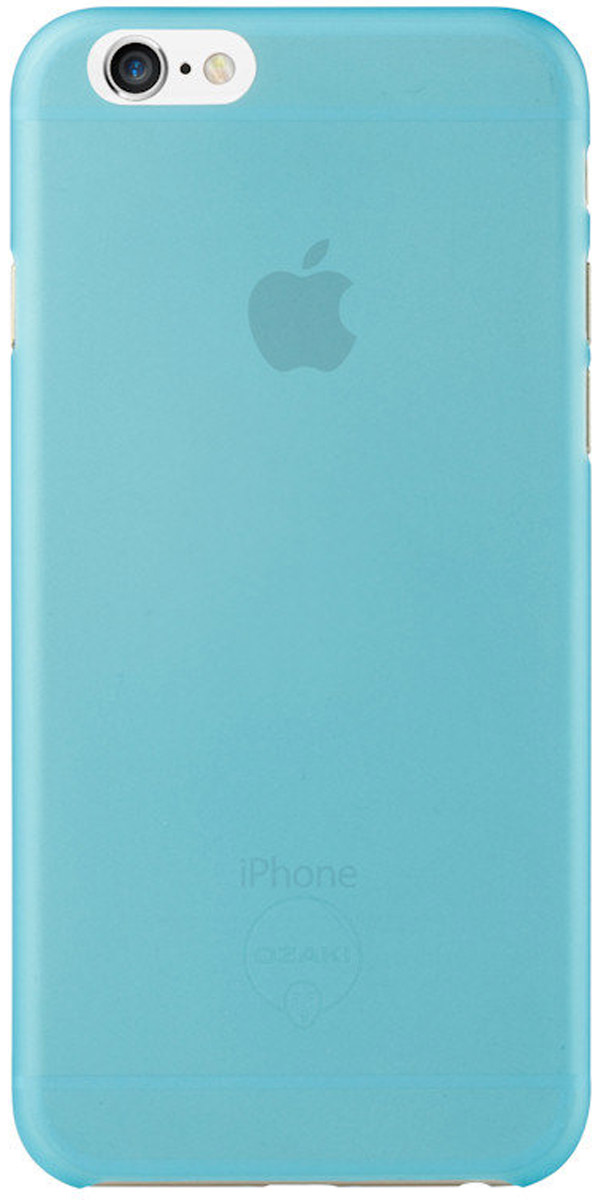 Ozaki O!coat 0.3 Jelly Case чехол для iPhone 6, Blue чехол книжка 450110 samsung galaxy s4 ozaki o coat original worldpass в виде обложки от паспорта африка