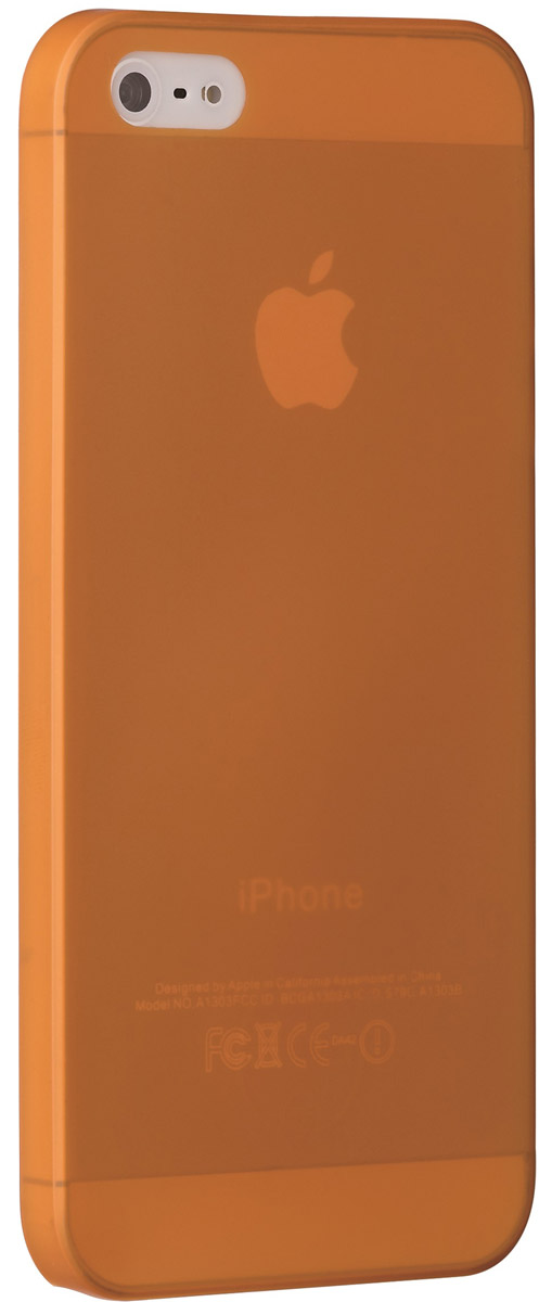 Ozaki O!coat 0.3 Jelly чехол для Apple iPhone 5/5s, Orange чехол чехол книжка samsung galaxy s4 ozaki o coat original worldpass в виде обложки от паспорта корея 450108