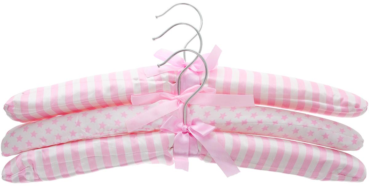 Набор вешалок для одежды Home Queen Полоски и звездочки, 3 шт набор форм для запекания home queen диаметр 18 5 см 3 шт