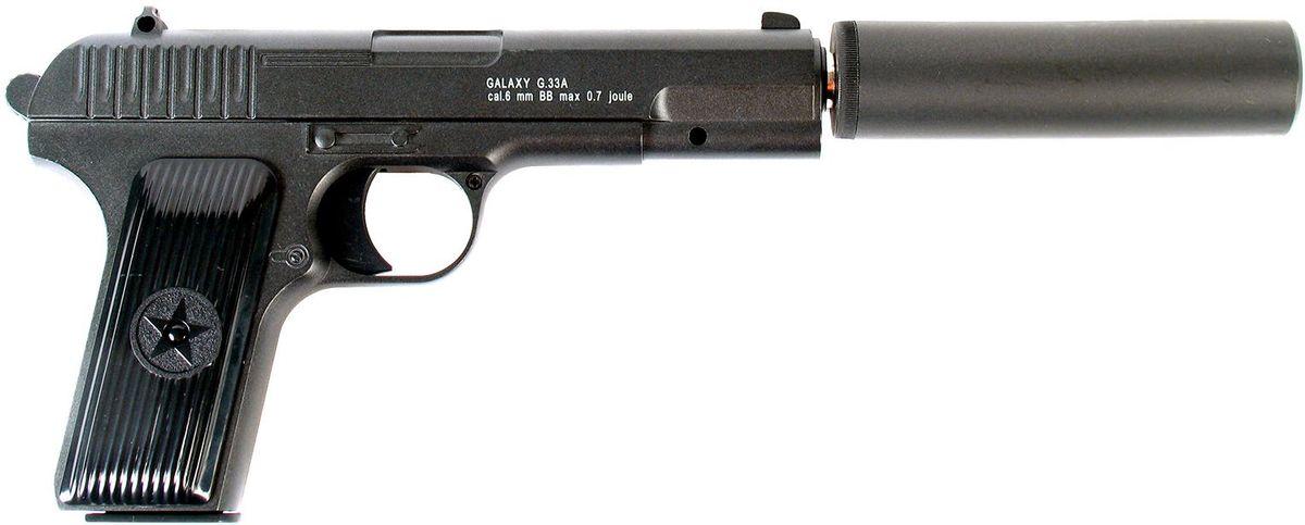 Пистолет страйкбольный Galaxy G.33A, пружинный, 6 мм