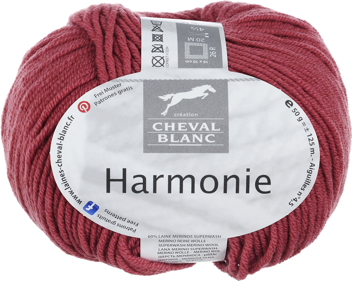 Пряжа для вязания Cheval Blanc Harmonie, цвет: темно-коралловый (303), 125 м, 50 г club cheval club cheval discipline 2 lp