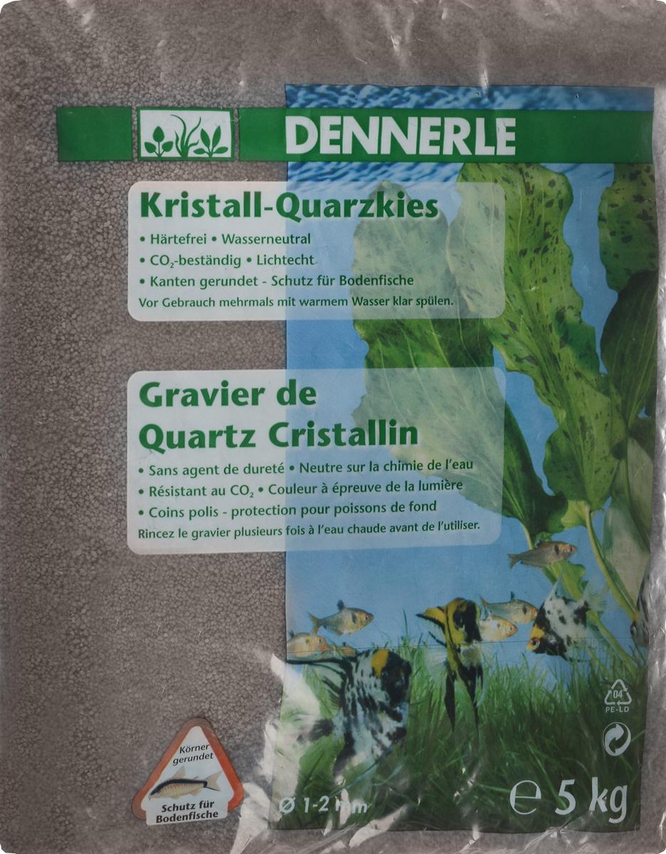 Грунт для аквариума Dennerle Kristall-Quarz, натуральный, цвет: темно-коричневый, 1-2 мм, 5 кг грунт для аквариума dennerle кристал кварц сланцево серый 1 2мм 5кг