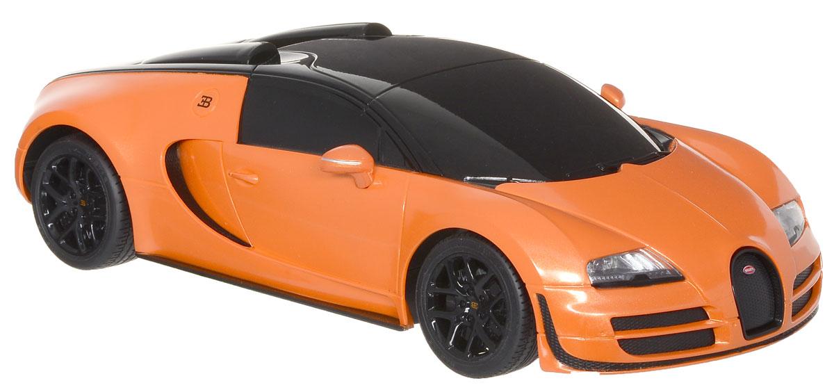 Rastar Радиоуправляемая модель Bugatti Veyron 16.4 Grand Sport Vitesse цвет оранжевый черный масштаб 1:18 игрушечная техника и автомобили rastar 43000 1 14 lp700 4 rc roadstar