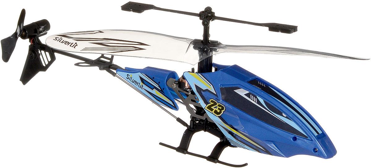 Silverlit Вертолет на инфракрасном управлении Вихрь цвет синий silverlit вертолет на инфракрасном управлении цвет оранжевый черный