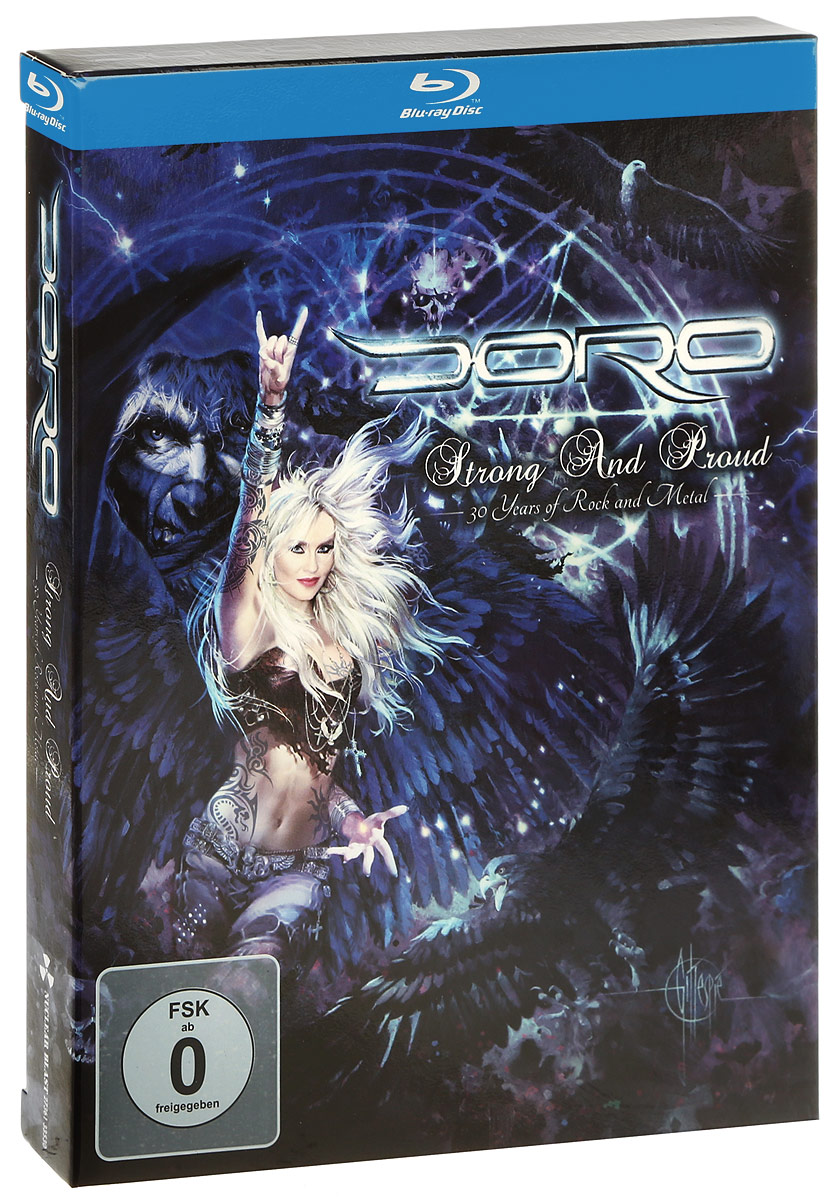 Doro: Strong And Proud: 30 Years Of Rock And Metal (2 Blu-ray) я zhuolun мужской стол 2017 весной новый мисс хан баннан модели blu ray светящаяся yzl0568th 2
