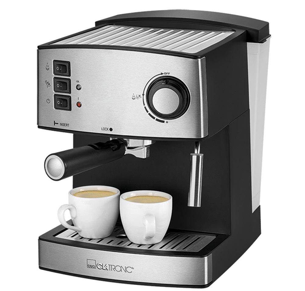 Кофемашина Clatronic ES 3643, Black Inox
