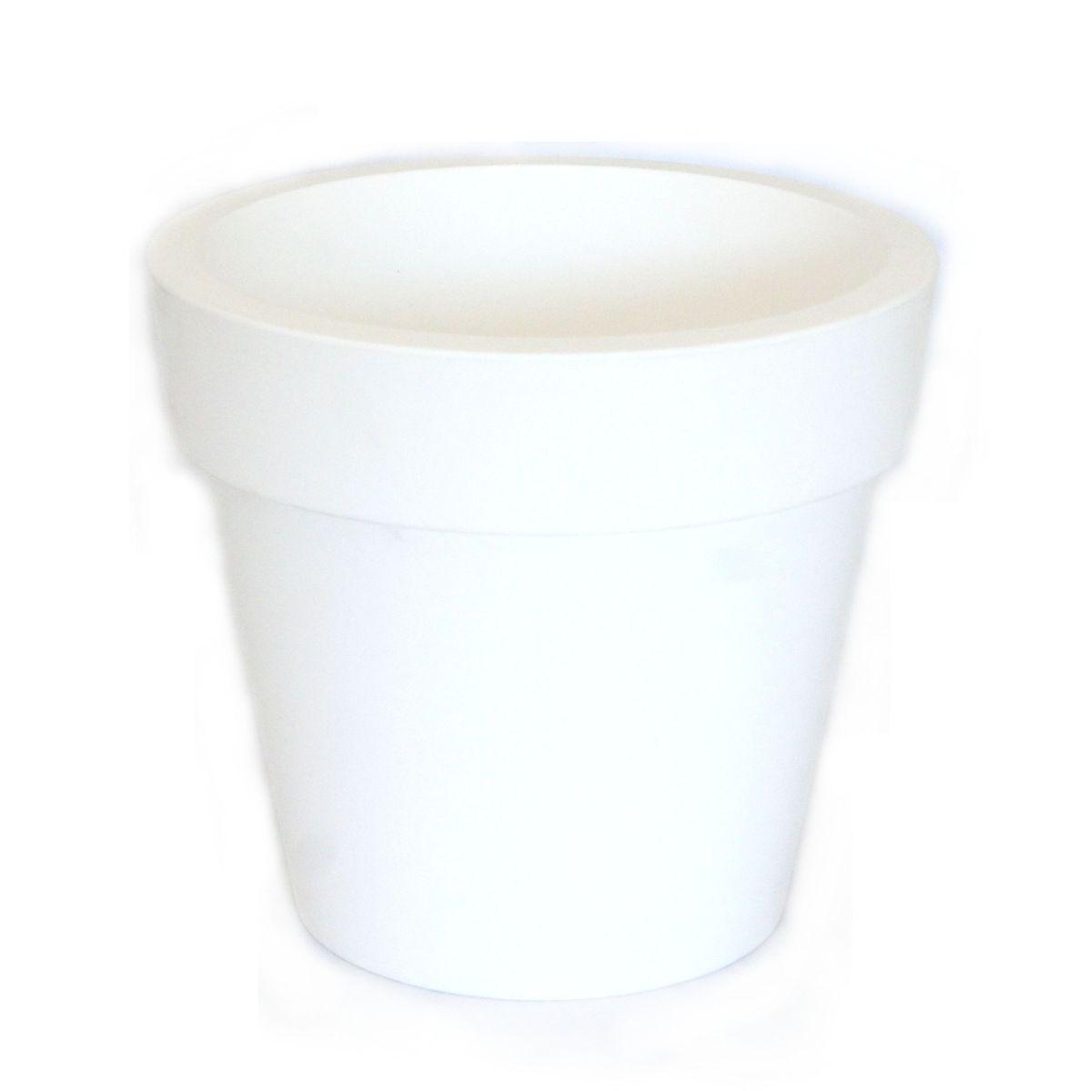 Кашпо JetPlast Порто, со вставкой, цвет: белый, 1 л кашпо jetplast альфа с креплением цвет кремовый 1 л