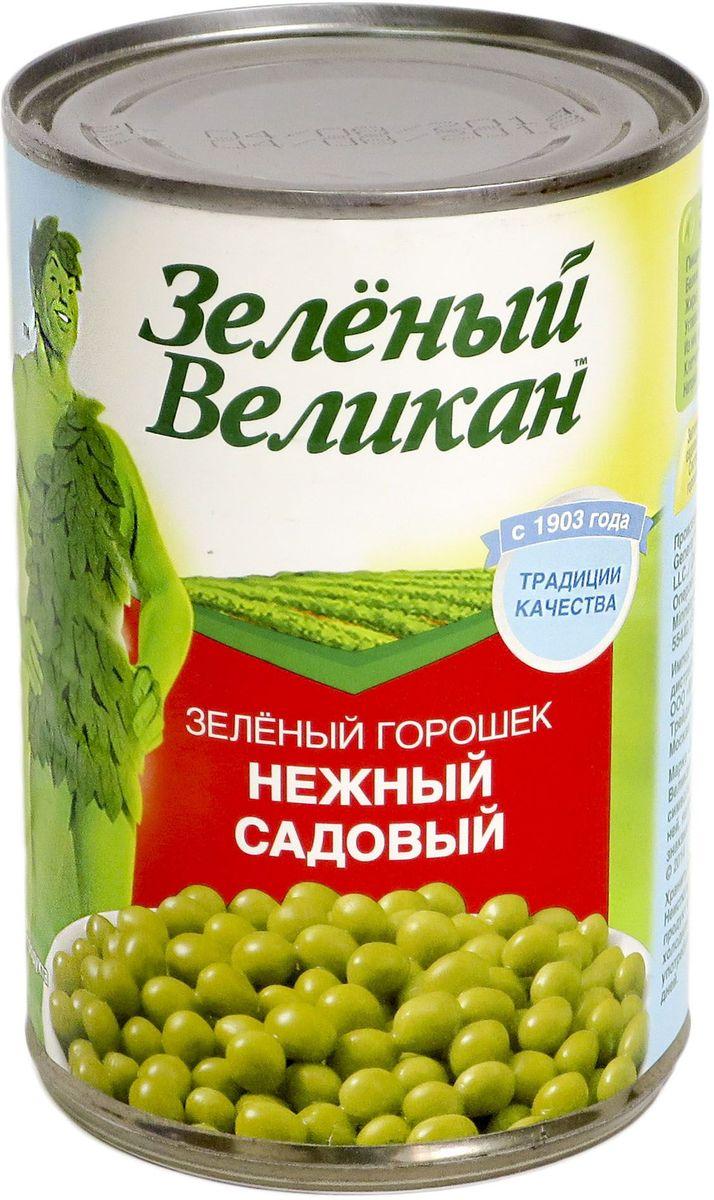 Зеленый великан горошек садовый, 425 г казачьи разносолы горошек зеленый мозговых сортов 425 г