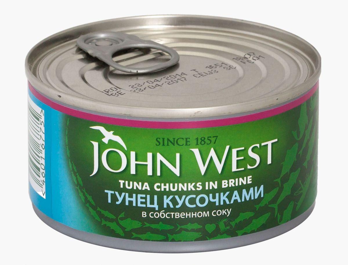 John West тунец кусочками в собственном соку, 185 г john west тунец с базиликом инфьюжнс 80 г