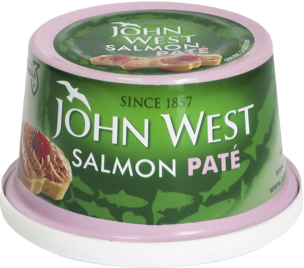 John West паштет из лосося, 125 г john west тунец с базиликом инфьюжнс 80 г