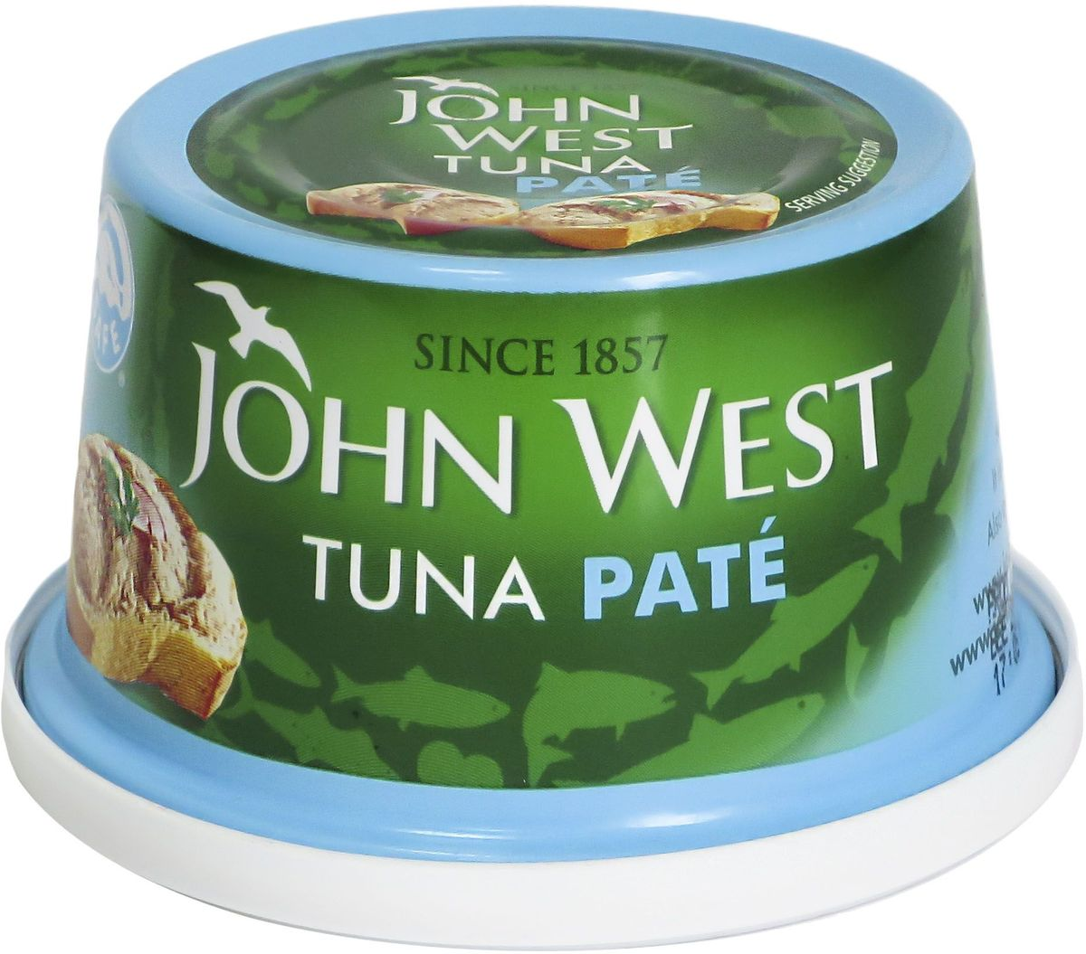 John West паштет из тунца, 125 г john west тунец с базиликом инфьюжнс 80 г