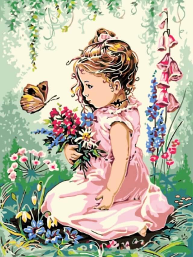 Набор для рисования по номерам Цветной Весна пришла, 30 x 40 см набор для рисования по номерам цветной венецианский мостик 40 x 50 см
