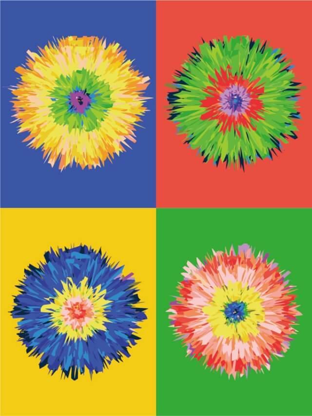 """Набор для рисования по номерам Цветной """"Цветок поп-арта"""", 30 x 40 см"""