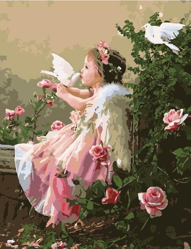 """Набор для рисования по номерам Цветной """"Поцелуй ангела"""", 40 x 50 см"""