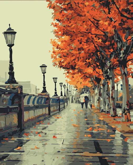 """Набор для рисования по номерам Цветной """"Осень"""", 40 x 50 см"""