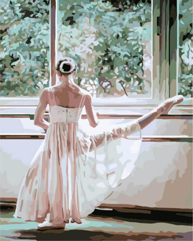 """Набор для рисования по номерам Цветной """"Балерина за станком"""", 40 x 50 см"""