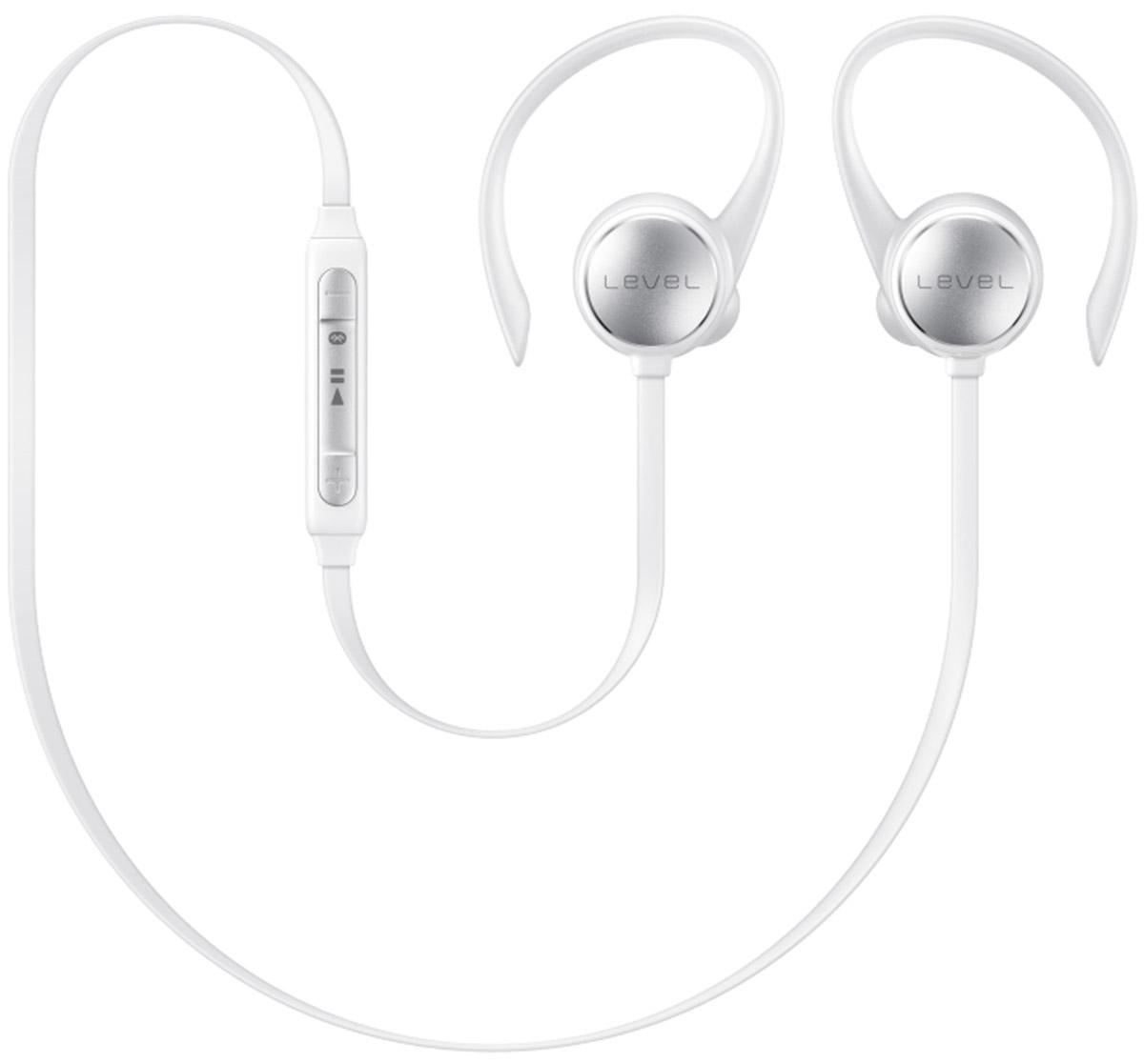 Беспроводные наушники Samsung Level Active, белый гарнитура bluetooth samsung level active стерео черный [eo bg930cbegru]