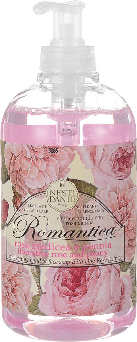 Nesti Dante Жидкое мыло Romantica. Флорентийская роза и пион, 500 мл свеча унисекс nesti dante wild tuscan lavender