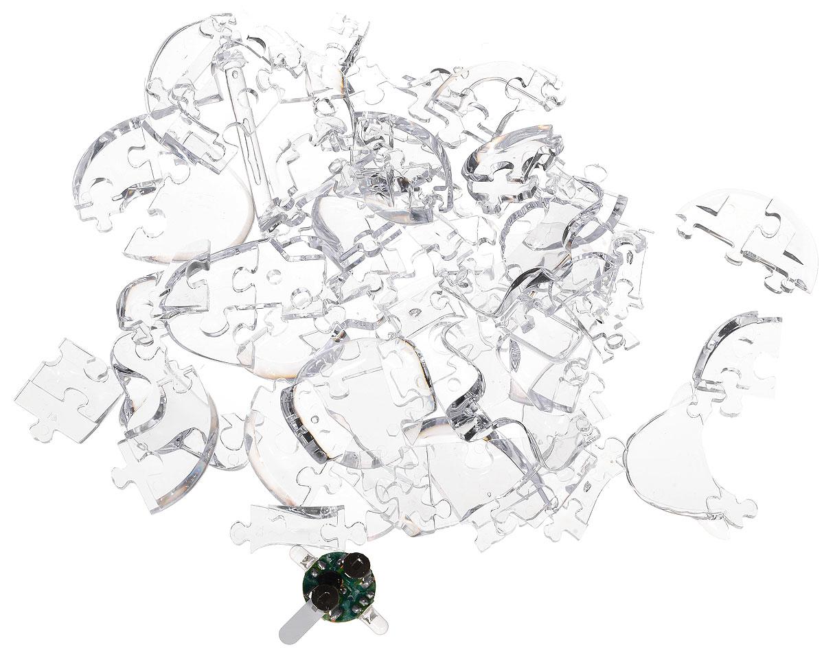 3D PuzzleМагический Кристалл 3D Пазл Череп с подсветкой цвет прозрачный 3D PuzzleМагический Кристалл
