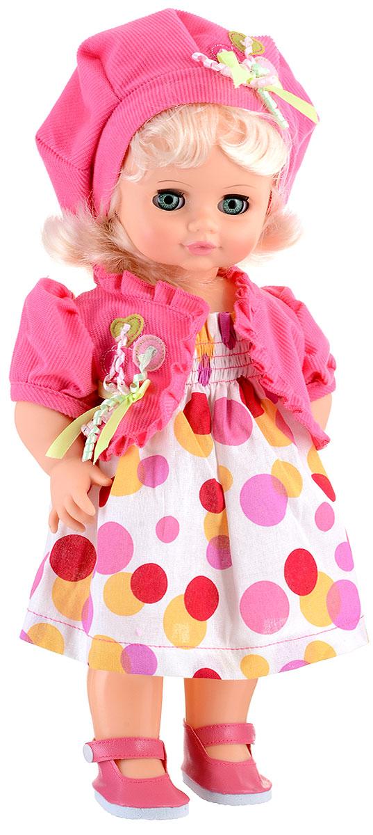 Весна Кукла озвученная Инна цвет одежды белый розовый красныйВ2239/о_розовыйМилая кукла Весна Инна сможет стать настоящей подружкой для ребенка.У куклы зеленые глаза и мягкие светлые волосы. На ней надеты болеро, берет, сарафанчик в горошек и башмачки. У Инны закрываются глазки, и она умеет разговаривать. При нажатии на звуковое устройство, вставленное в спинку, кукла произносит различные фразы: Я твоя подружка; Здравствуй!; Давай дружить!.Наличие элементов одежды, которые легко снимаются и надеваются, разнообразят возможности сюжетно-ролевых игр с этой куклой, в процессе которых развивается мелкая моторика и творческое воображение ребенка. Порадуйте свою принцессу таким прекрасным подарком! Милая игрушка научит ребенка доброте и заботе о других.Для работы игрушки рекомендуется докупить 3 батарейки LR44/AG13/СЦ357 (товар комплектуется демонстрационными).