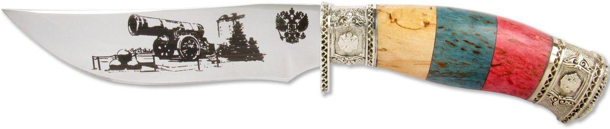 Нож Ножемир Слава России. Царь-пушка, кованая сталь, с ножнами, общая длина 26,5 см нож складной охотничий ножемир с ножнами общая длина 30 3 см