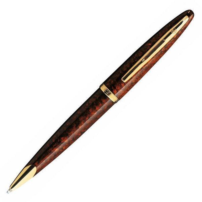 Waterman Ручка шариковая Carene Marine Amber GT синяя корпус коричневый