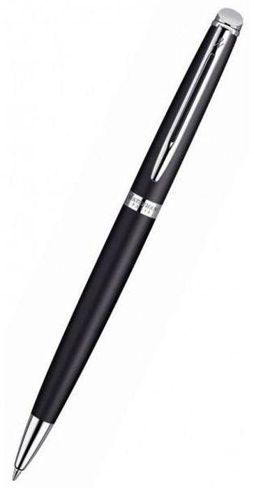 Фото - Waterman Ручка шариковая Hemisphere Matt Black CT синяя корпус стальной черный fellowes ручка шариковая на подставке синяя цвет корпуса черный