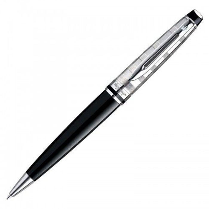 Waterman Ручка шариковая Expert Deluxe Black CT синяя корпус черный